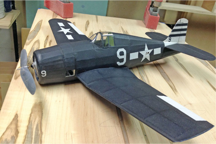 this gorgeous 18 inch wingspan f6f grumman hellcat built by dave mitchell