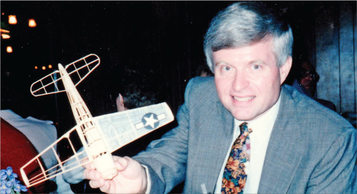 the author is shown at an fac banquet in the 1990s with his partially completed