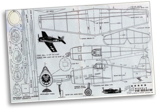 the f6f hellcat building plans file is 8 5 x 11 inches